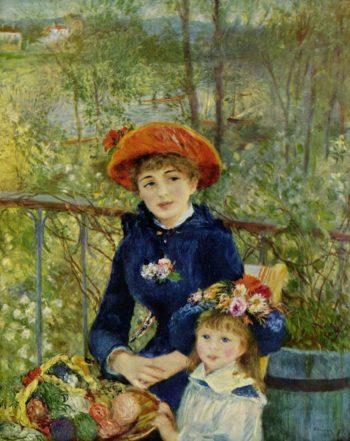 On the Terrace   Pierre-Auguste Renoir   oil painting