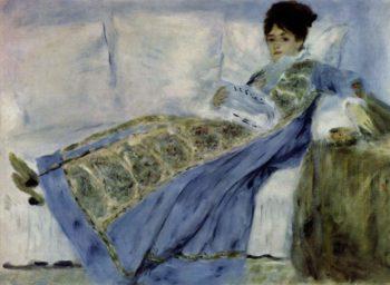Madame Monet auf dem Divan | Pierre-Auguste Renoir | oil painting