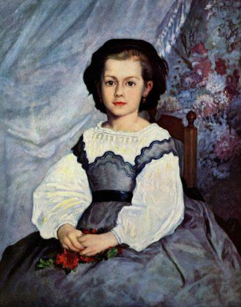 Portr?t der Mademoiselle Romaine Lancaux | Pierre-Auguste Renoir | oil painting
