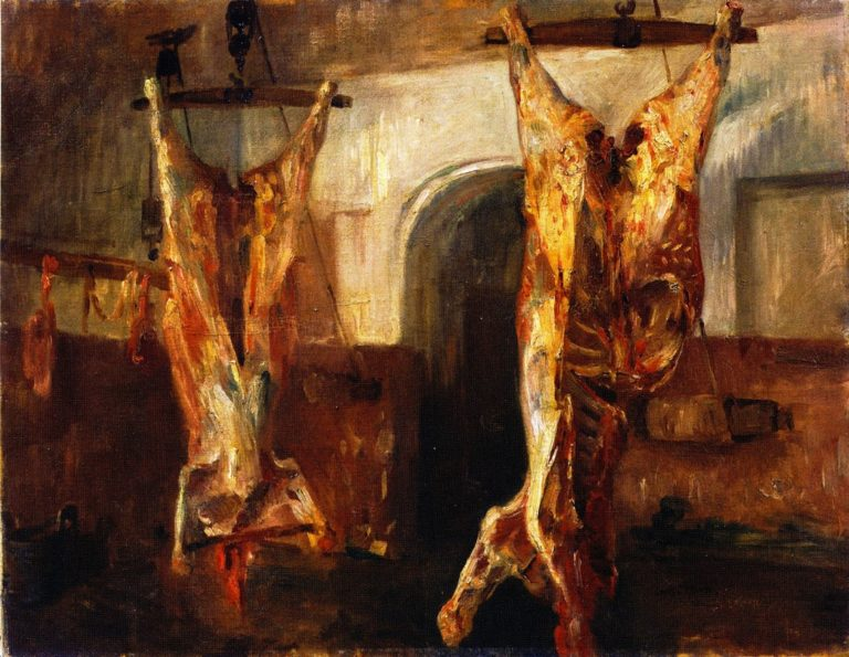 Slaughtered Calves | Lovis Corinth | oil painting