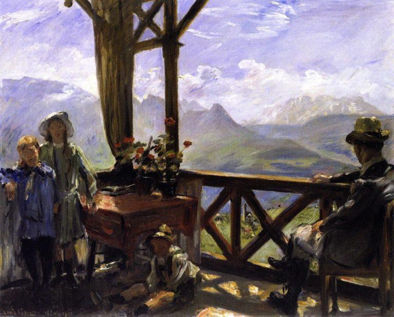 Terrace in Klobenstein Tyrol | Lovis Corinth | oil painting