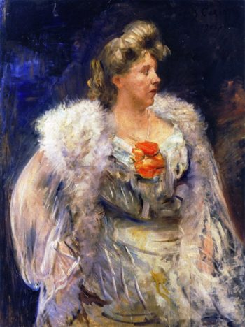 The Singer Frieda Halbe | Lovis Corinth | oil painting