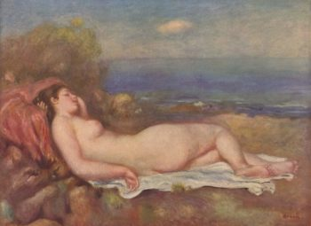 Schlafende am Meer | Pierre-Auguste Renoir | oil painting