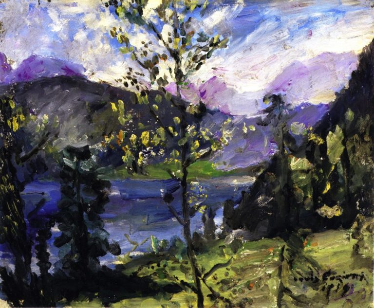 Walchensee Landscape | Lovis Corinth | oil painting
