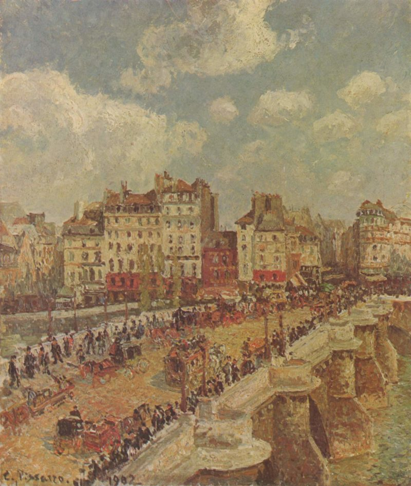 Le Pont-Neuf | Camille Pissarro | oil painting
