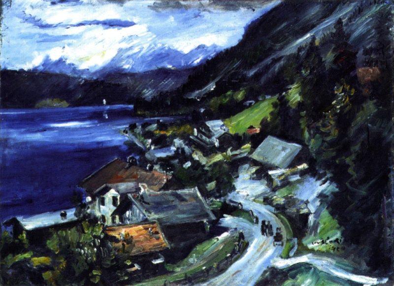 Walchensee Serpentine   Lovis Corinth   oil painting