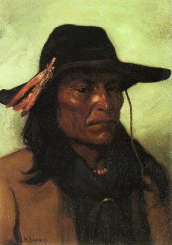 Chief Duck Man | Joseph Henry Sharp | oil painting