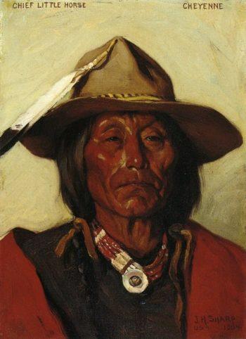 Chief LIttle Horse Cheyenne | Joseph Henry Sharp | oil painting
