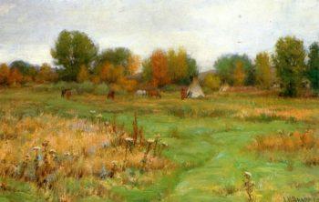 Fall Encampment | Joseph Henry Sharp | oil painting