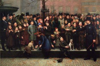 Fountain Square Pantomime | Joseph Henry Sharp | oil painting