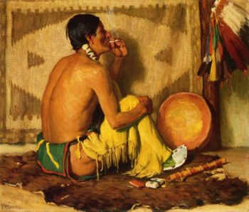 Hunting Son No 2 | Joseph Henry Sharp | oil painting