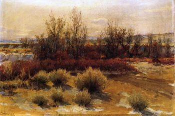 Lingering Snow | Joseph Henry Sharp | oil painting