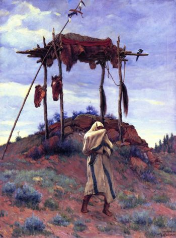 The Voice of the Great Spirit | Joseph Henry Sharp | oil painting