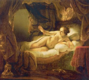 Danae | Rembrandt Harmensz. van Rijn | oil painting
