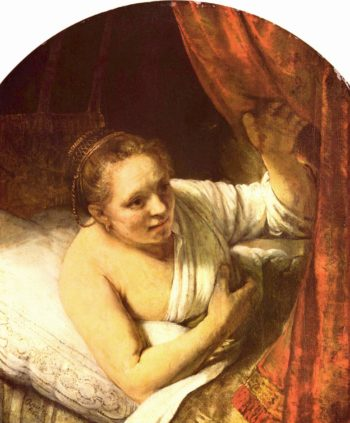 Junge Frau im Bett (possibly Geertje) | Rembrandt Harmensz. van Rijn | oil painting