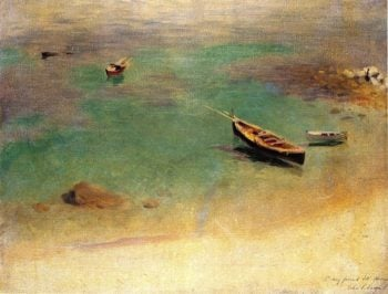 A Boat in the Waters off Capri | John Singer Sargent | oil painting