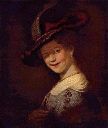Portr?t der Saskia van Uijlenburgh als junges M?dchen | Rembrandt Harmensz. van Rijn | oil painting