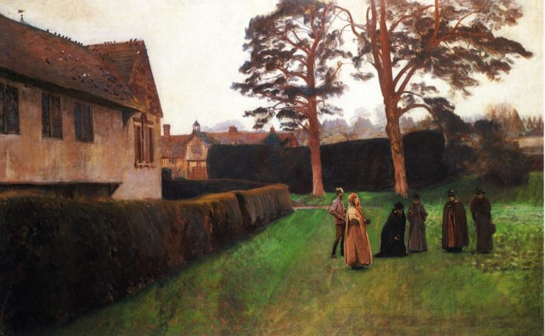 A Game of Bowls Ightham Mote Kent | John Singer Sargent | oil painting