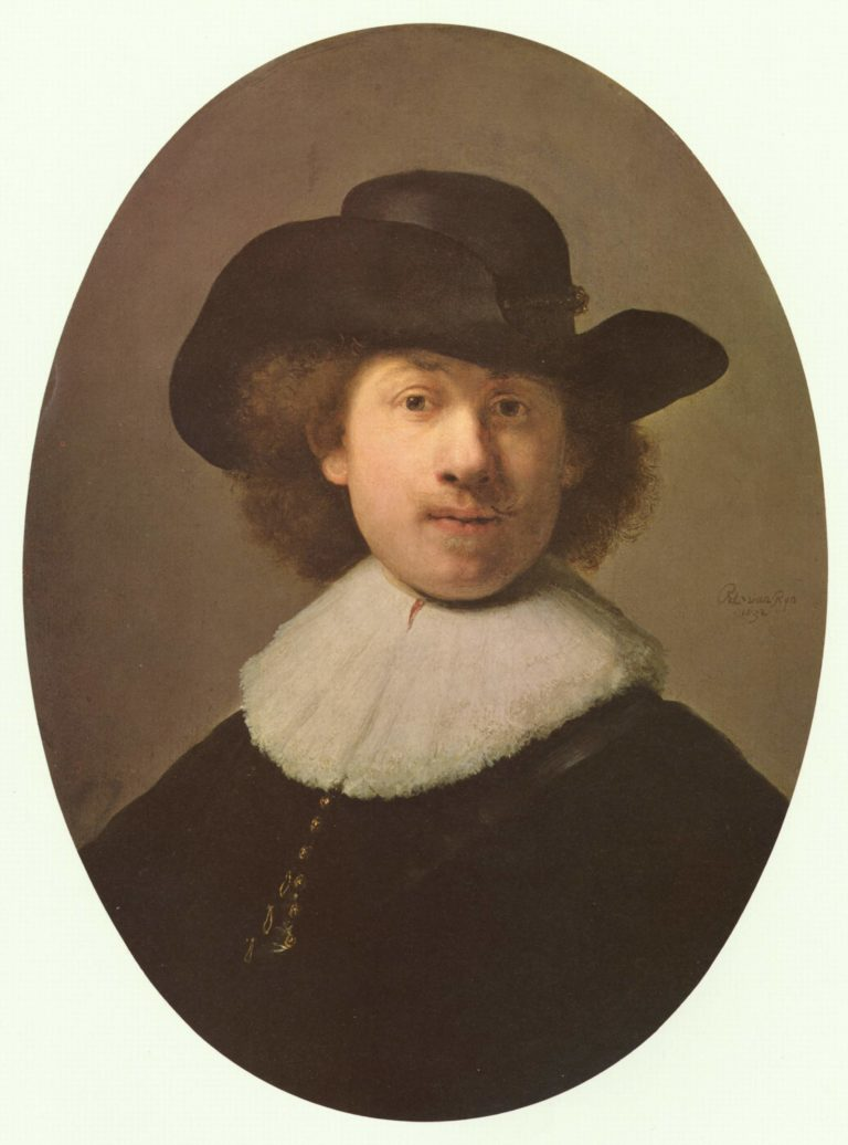 Self-portrait with wide-awake hat. Alternate title(s): | Rembrandt Harmensz. van Rijn | oil painting