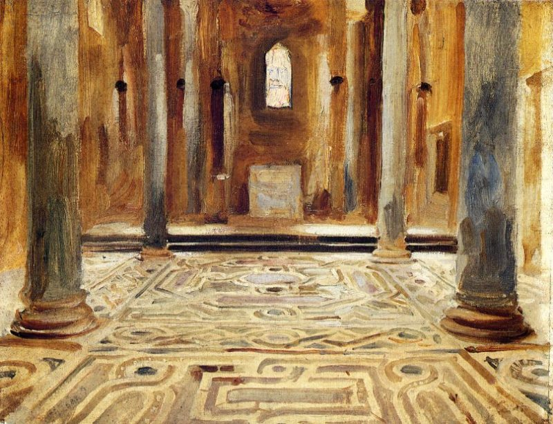 A Mosque Cairo 1891 | John Singer Sargent | oil painting