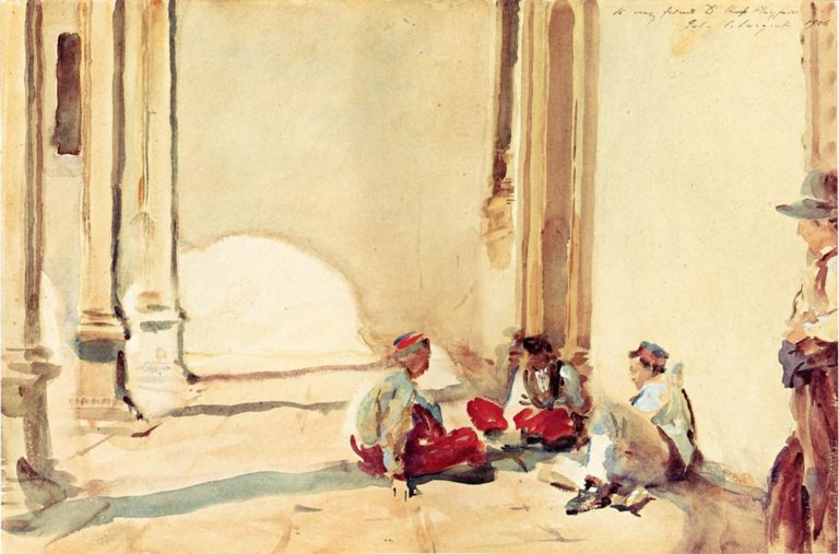 A Spanish Barracks | John Singer Sargent | oil painting