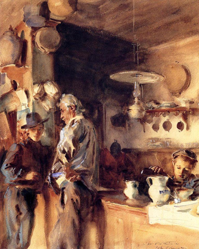 A Spanish Interior | John Singer Sargent | oil painting