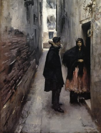 A Street in Venice 2 | John Singer Sargent | oil painting
