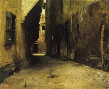 A Street in Venice | John Singer Sargent | oil painting