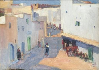 A Street in Tangier | Sir John Lavery | oil painting