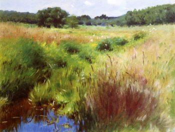 Marshland Medfield   Dennis Miller Bunker   oil painting