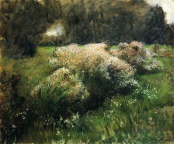 Wild Asters Study   Dennis Miller Bunker   oil painting