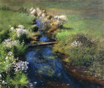 Wild Asters   Dennis Miller Bunker   oil painting