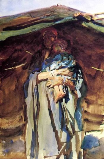 Bedouin Mother | John Singer Sargent | oil painting