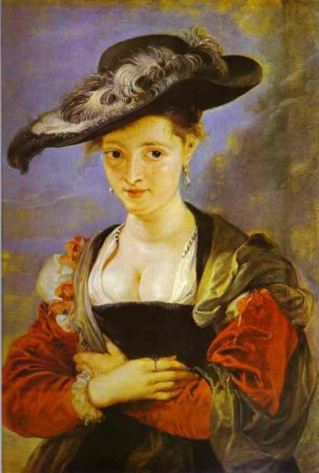 Der Strohhut English Title - Susanna Fourment Fran?ais : Le chapeau de paille | Peter Paul Rubens | oil painting