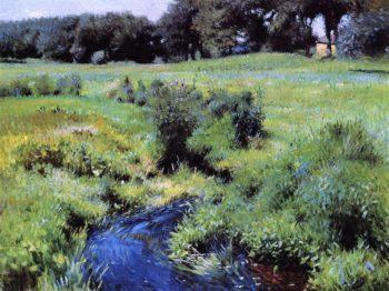 The Pool Medfield   Dennis Miller Bunker   oil painting