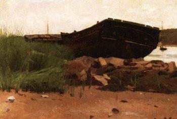 Old Hulks   Dennis Miller Bunker   oil painting