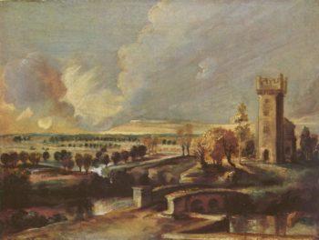 Landschaft mit dem Turm des Schlosses Steen   Peter Paul Rubens   oil painting