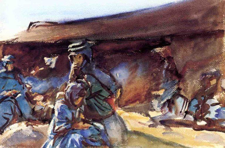 Black Tent | John Singer Sargent | oil painting