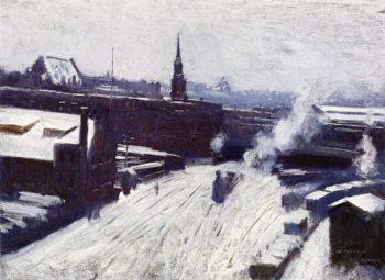 The Station   Dennis Miller Bunker   oil painting