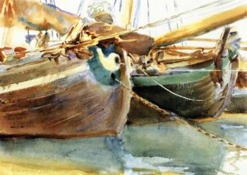 Boats Venice | John Singer Sargent | oil painting