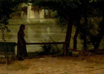 On the Banks of the Oise   Dennis Miller Bunker   oil painting