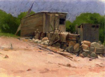 The Shed   Dennis Miller Bunker   oil painting