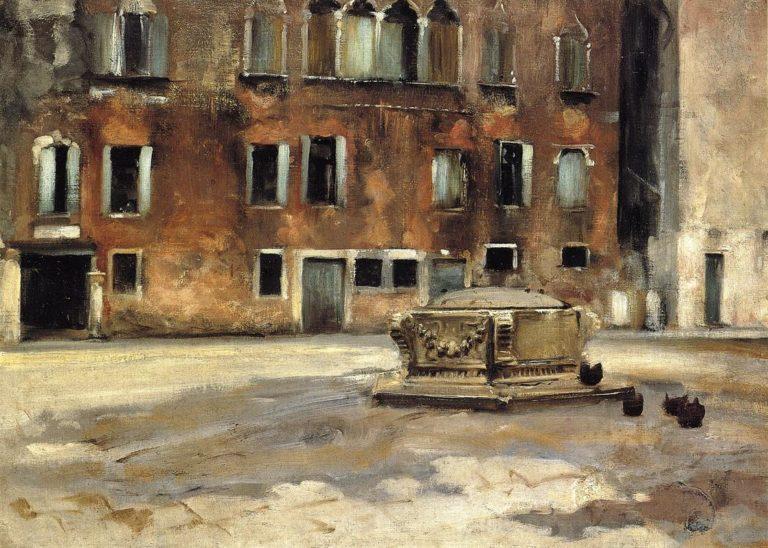 Campo San Agnese Venise | John Singer Sargent | oil painting