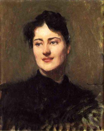 Portrait of a Woman   Dennis Miller Bunker   oil painting