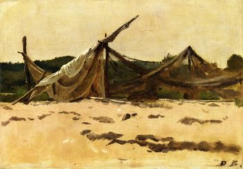 Nets and Sails Drying   Dennis Miller Bunker   oil painting