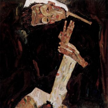 Der Lyriker English Title - The Poet | Egon Schiele | oil painting