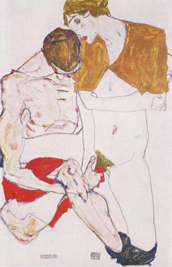 Liebespaar | Egon Schiele | oil painting