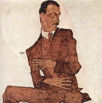 Portr?t des Arthur R?ssler | Egon Schiele | oil painting