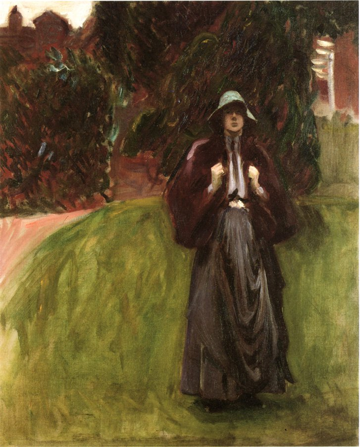 Clementina Austruther Thompson sketch   John Singer Sargent   oil painting