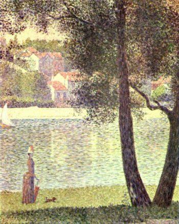 Die Seine bei Courbevoie | Georges Seurat | oil painting